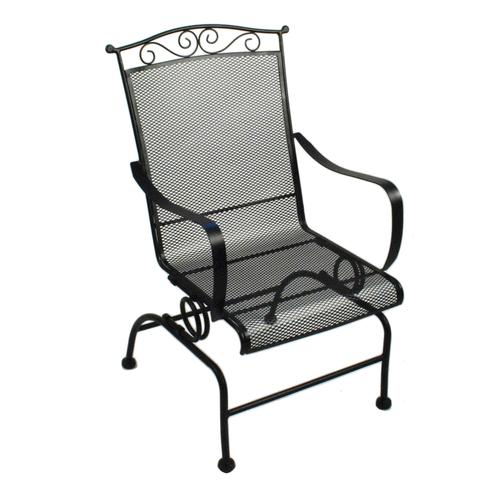 Backyard Creations® Wrought Iron Rocking Patio Chair At Menards®