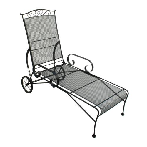 backyard creations wrought iron chaise lounge patio chair at menards. Black Bedroom Furniture Sets. Home Design Ideas