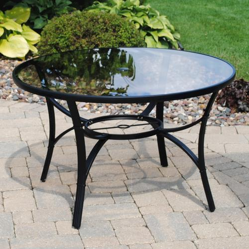 Augustine Round Dining Patio Table At