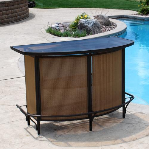 Backyard Creations™ Somerset Rectangular Bar Patio Table At Menards®