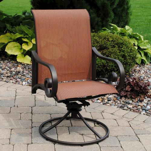 - Backyard Creations® Melbourne Swivel Rocker Patio Chair At Menards®