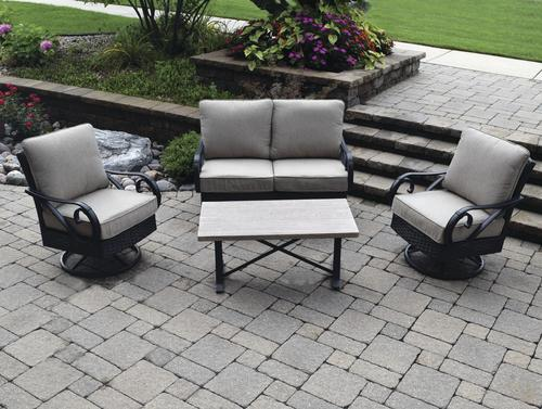 Backyard Creations® Boulder Creek 4 Piece Deep Seating Patio Set At Menards®