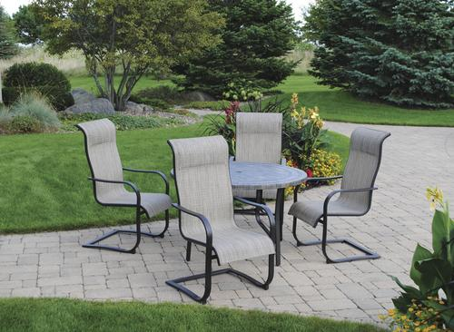 Backyard Creations Collins Collection 5 Piece Dining Patio Set At