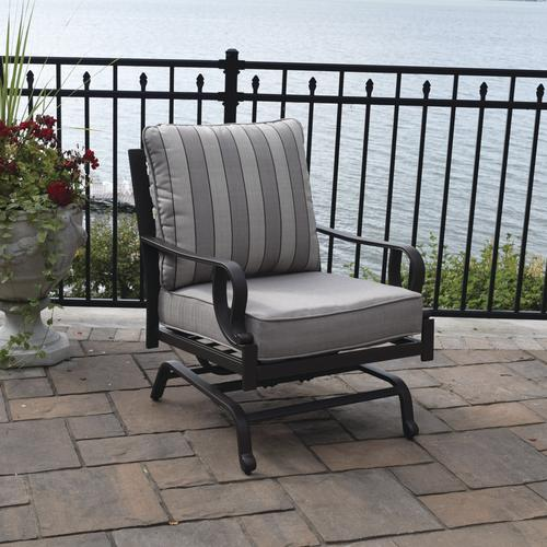 Stone Manor Rocking Chat Patio Chair