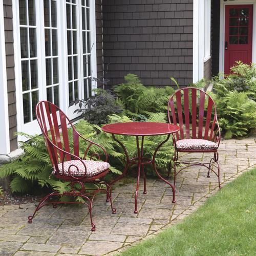 Backyard Creations Vineyard Red 3 Piece Patio Bistro Set At Menards