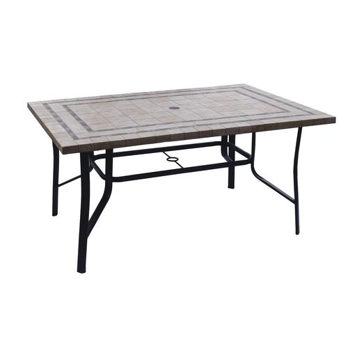 Ordinaire Backyard Creations® Hamilton Rectangular Dining Patio Table. Model Number:  MD18 HAM4060 WS Menards ® SKU: 2725154