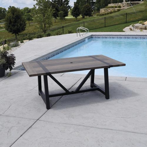 Backyard Creations Tanner Falls Rectangular Dining Patio Table