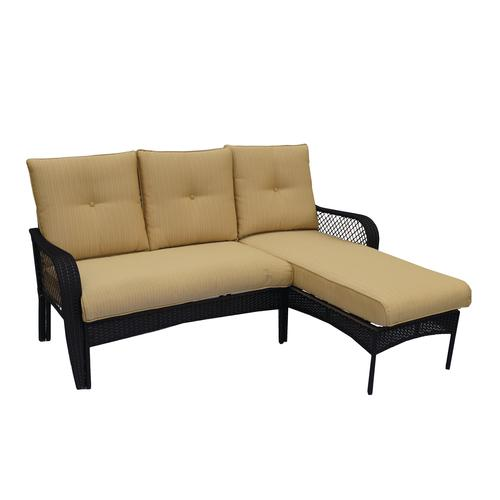 Backyard Creations® Maple Grove Modular Patio Sofa With Chaise In Yellow