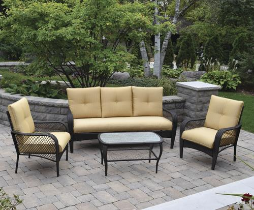 Ordinaire Backyard Creations® Maple Grove Collection 4 Piece Seating ...