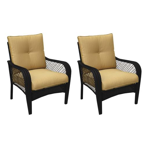 Backyard Creations® Maple Grove Deep Seating Patio Chair In Yellow   2 Pack  At Menards®