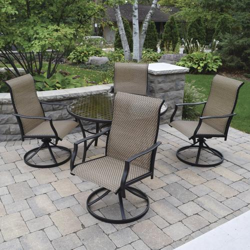 Backyard Creations Taylor Collection 5 Piece Dining Patio Set At