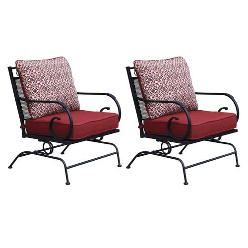 Backyard Creations Wrought Iron Club Patio Rocker 2 Pack At Menards