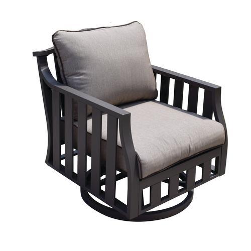 Backyard Creations® Glenn Brook Swivel Rocker Patio Club Chair   2 Pack