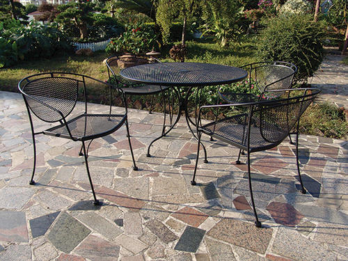 Backyard Creations® Wrought Iron 5 Piece Dining Patio Set At Menards®