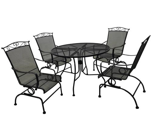 Wrought Iron Collection 5 Piece Dining