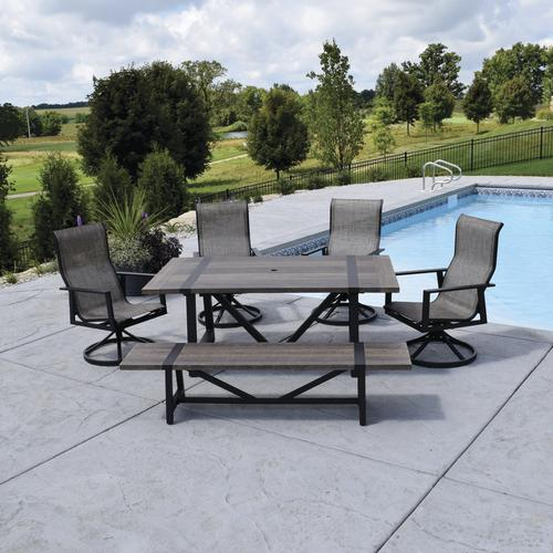 Backyard Creations® Tanner Falls Collection 6 Piece Dining Patio Set