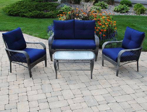 Backyard Creations Aspen 4Piece Deep Seating Patio Set at Menards