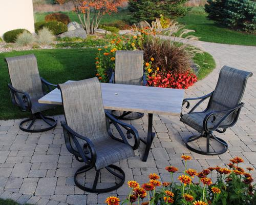 Attractive Backyard Creations® Boulder Creek 5 Piece Dining Patio Set At Menards®