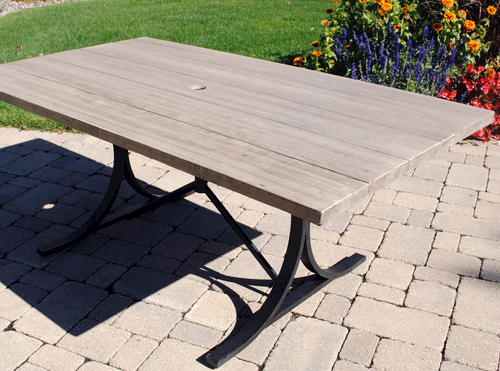 Attrayant Backyard Creations® Boulder Creek Rectangular Dining Patio Table At Menards®