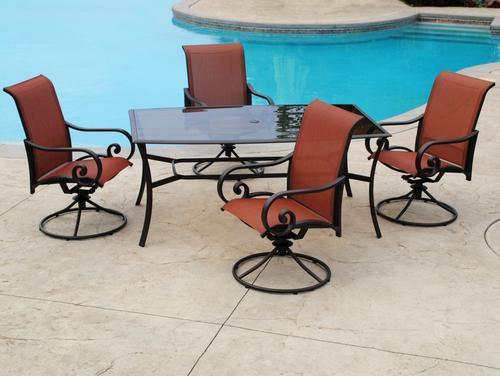 Backyard creations melbourne 5 piece dining patio set at menards malvernweather Gallery