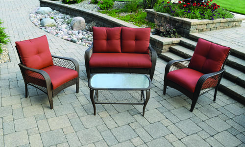 backyard creations orchard valley 4 piece deep seating patio set at menards - Backyard Creations Patio Furniture