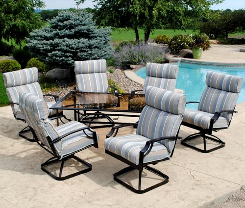 Backyard Creations® Pacifica 7 Piece Dining Patio Set At Menards®
