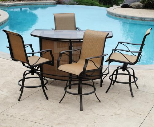 Backyard Creations® Somerset 5 Piece Bar Patio Set At Menards®