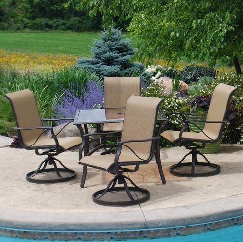 Backyard Creations Somerset 5Piece Dining Patio Set at Menards