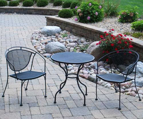 - Backyard Creations 3-Piece Wrought Iron Bistro Collection At Menards®