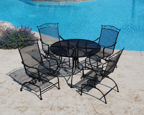Furniture Legs Menards backyard creations® wrought iron 5-piece dining patio set at menards®