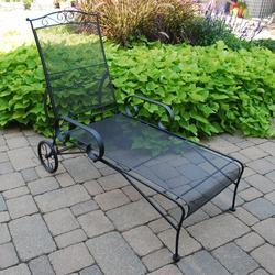 Backyard Creations 174 Wrought Iron Chaise Lounge Patio Chair