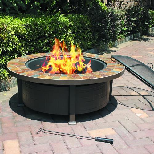 Backyard Creations 44 Slate Top Steel Fire Pit At Menards