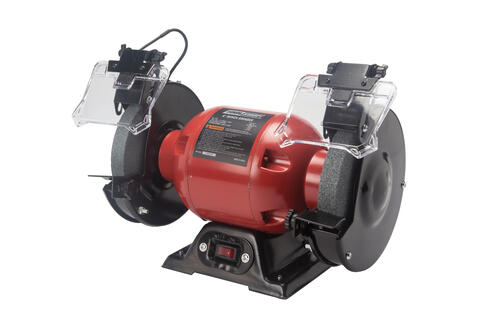 Outstanding Tool Shop Corded 6 Bench Grinder With Led Lights At Menards Machost Co Dining Chair Design Ideas Machostcouk