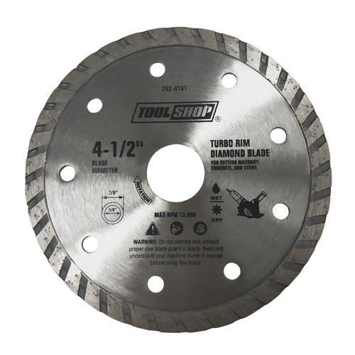 Tool Shop 4 1 2 Turbo Rim Diamond Blade For Masonry At Menards