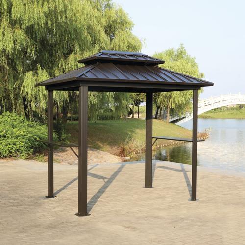 Backyard Creations Concord Steel Roof Grill Gazebo