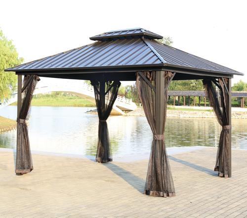 Backyard Creations 10 X 12 Concord Steel Roof Gazebo At Menards
