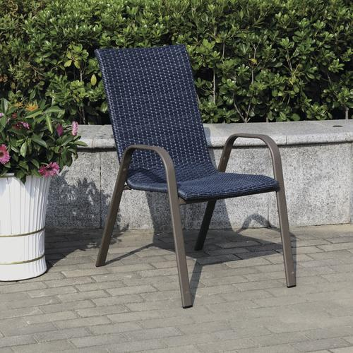 Larissa Wicker Stack Patio Chair At