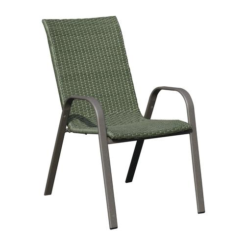 Backyard Creations® Larissa Wicker Stack Patio Chair at Menards®