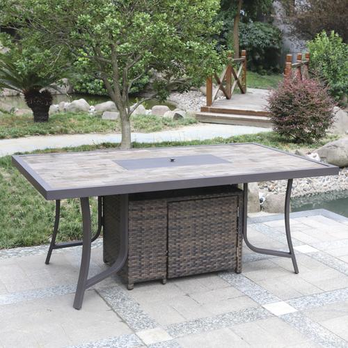 Astonishing Backyard Creations Parker Bay Lp Fire Pit Dining Patio Squirreltailoven Fun Painted Chair Ideas Images Squirreltailovenorg