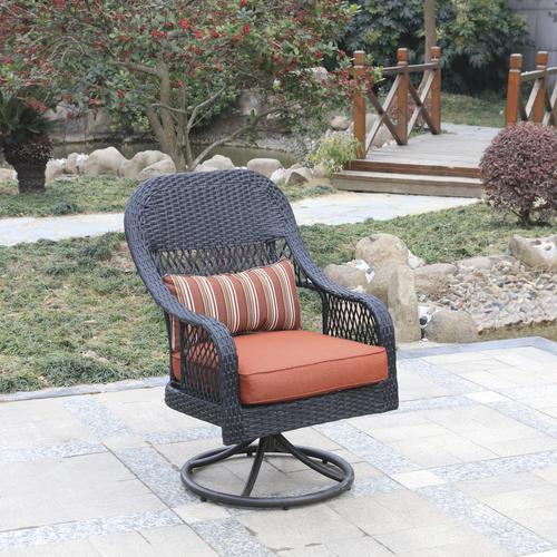 Admirable Backyard Creations Emory Point Swivel Rocker Dining Patio Ncnpc Chair Design For Home Ncnpcorg