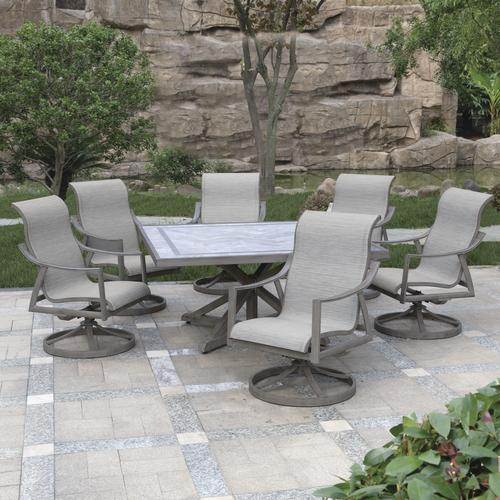 Backyard Creations® Hilton Point Collection 7 Piece Square ...