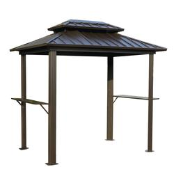 Backyard Creations® Concord Steel Roof Grill Gazebo  sc 1 st  Menards : outdoor gazebo canopy - afamca.org