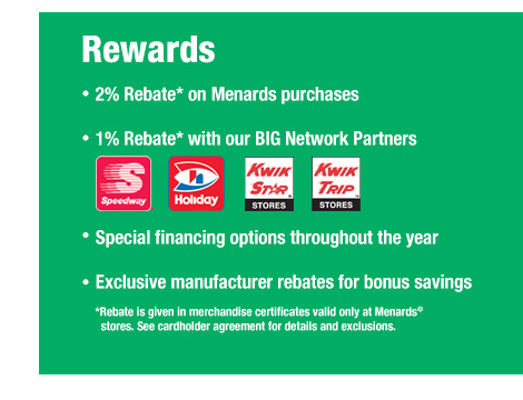 Big Card Rebates at Menards®