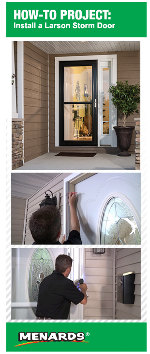 storm doors menards.  How To Install a Larson Storm Door at Menards