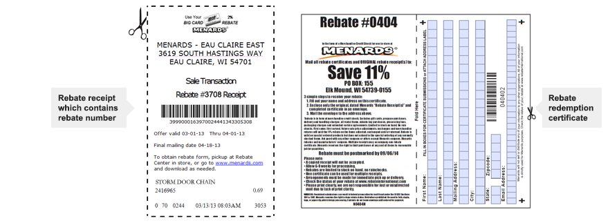 Rebates at Menards®