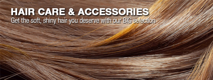Hair Care and Accessories. Get the soft, shiny hair you deserve with our big selection.