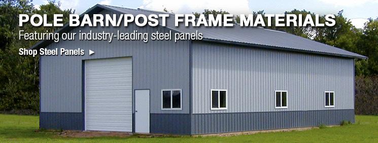 Pole Barn Post Frame Materials At MenardsR