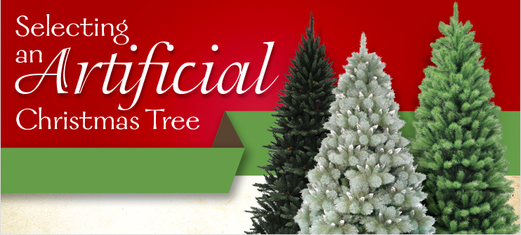 selecting an artifical christmas tree at menards