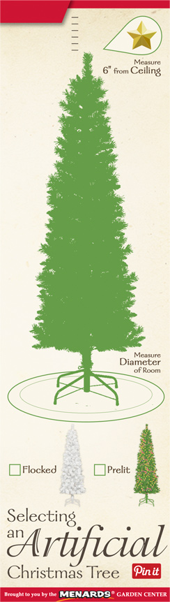 selecting an artifical christmas tree at menards - Menards Christmas Trees