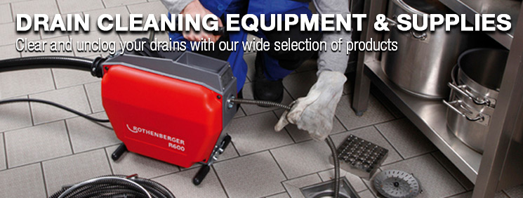 Drain Cleaning Equipment & Supplies. Clear and unclog your drains with our wide selection of products.